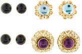 Lagos Interchangeable Gemstone Earrings Set