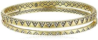 House of Harlow 1960 White Outland Split Bangle Bracelet