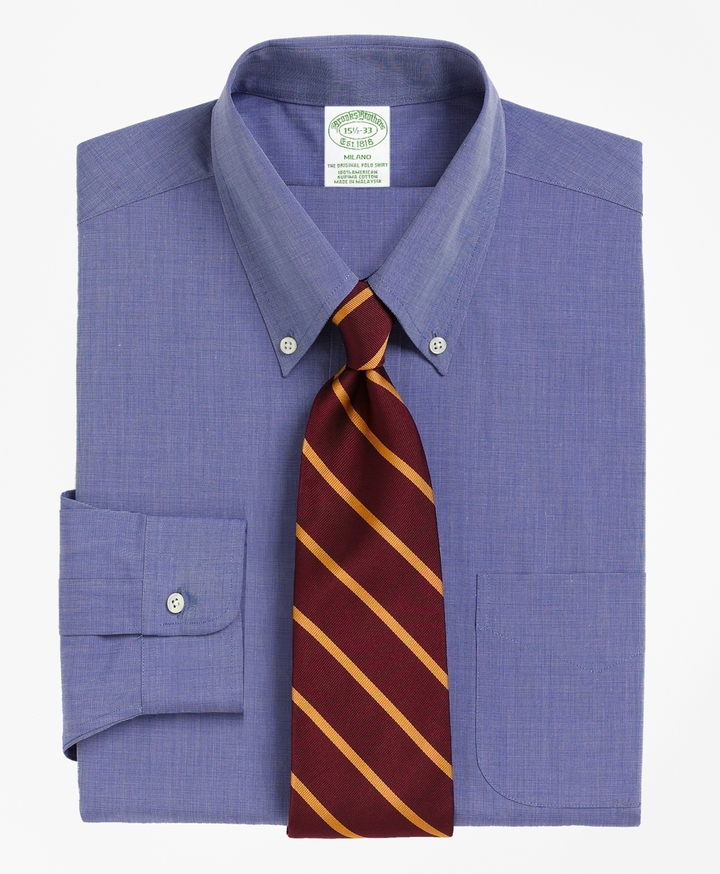 Brooks Brothers Milano Fit Button-Down Collar Dress Shirt