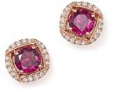Bloomingdale's Rhodolite Garnet and Diamond Stud Earrings in 14K Rose Gold - 100% Exclusive