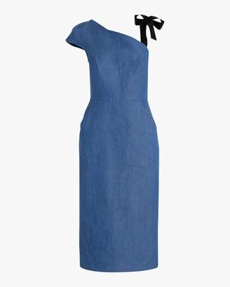 ARIAS Ribbon Strap One-Shoulder Dress