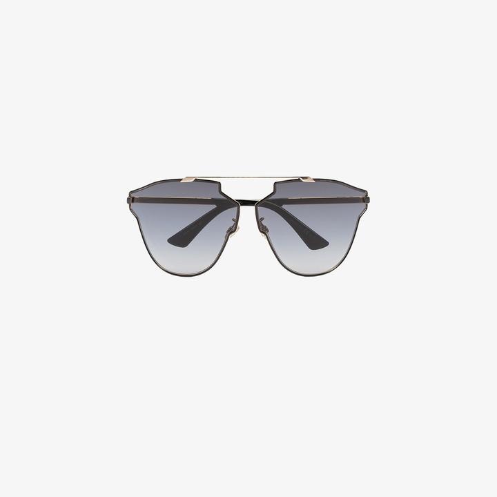 Christian Dior black SoRealRise oversized sunglasses
