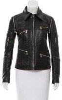 Dolce & Gabbana Zip-Accented Leather Jacket