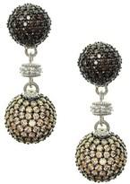 Judith Ripka Sterling Pave Multi Diamonique Drop Earrings