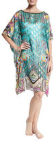 Etro Metallic Paisley Print Tunic, Purple