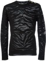 Balmain animal print jumper