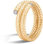 John Hardy Coil Bracelet with Diamonds