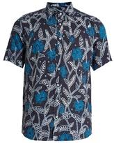 Etro Floral-print short-sleeved linen shirt