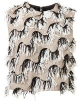 Christian Siriano fringed yarn tank