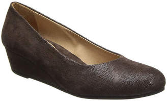 French Sole Women's Pumps Brown - Brown Cartizze Gumdrop Leather Wedge - Women