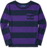 Ralph Lauren Bold Striped Long-Sleeve Shirt, Big Girls (7-16)