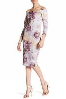Blvd Rose Print Sheath Dress