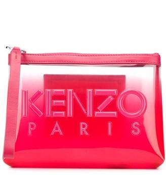 Kenzo Clear-Panel Logo Clutch