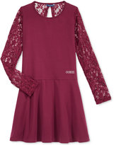 GUESS Embellished Lace Sleeve Dress, Big Girls (7-16)