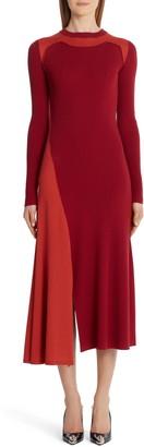 Alexander McQueen Colorblock Long Sleeve Wool & Cashmere Sweater Dress