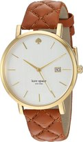 Kate Spade Women's 'Grand Metro' Quartz Stainless Steel and Leather Casual Watch, Color: (Model: KSW1161)