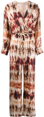 Nanushka Tie-Dye Long Sleeve Jumpsuit