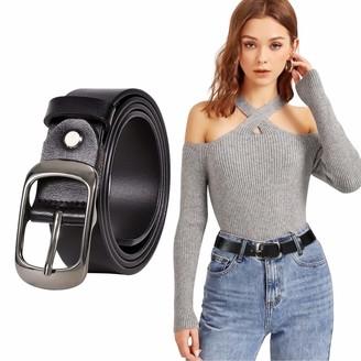 JASGOOD Large Women Fashion Leather Belts women Plus Size Casual Belt for Women Jeans Pants Dress