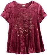 Mudd Girls 7-16 & Plus Size Foil Print Velvet Swing Tee