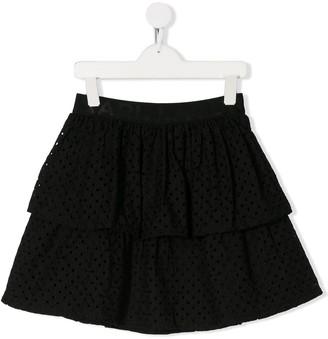 Karl Lagerfeld Paris Layered Mini Skirt