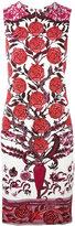 Roberto Cavalli rose print shift dress