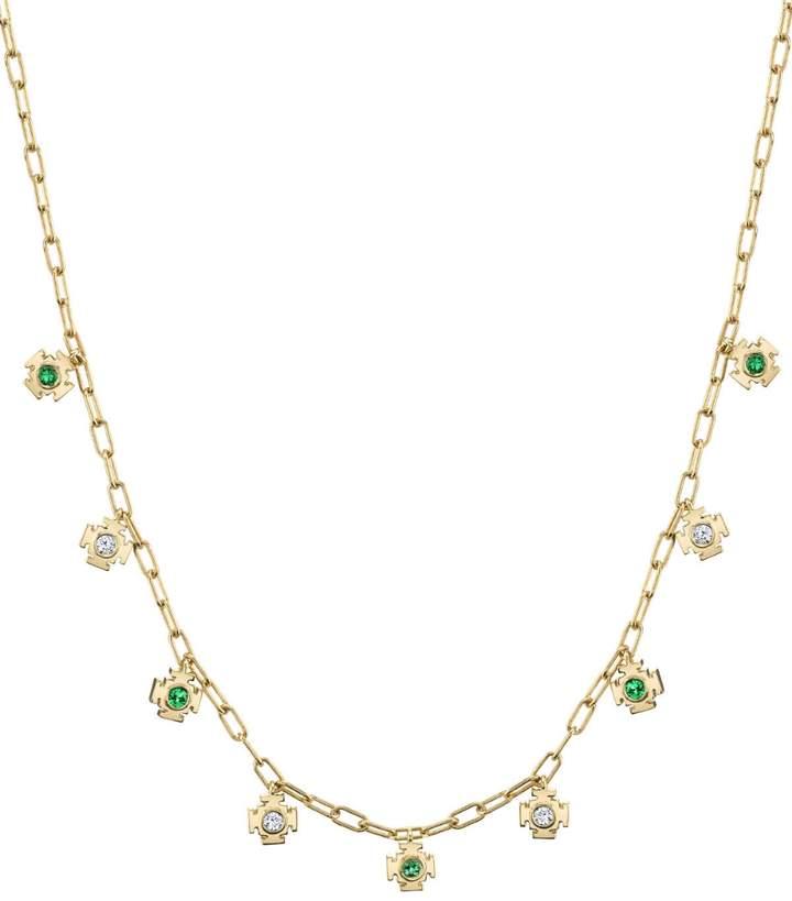 Ark Emerald and Diamond Mini Gateway Necklace