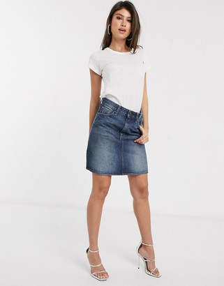 G Star G-Star 3301 denim mini skirt in blue