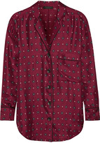 Rag & Bone Gabrielle printed silk-twill shirt