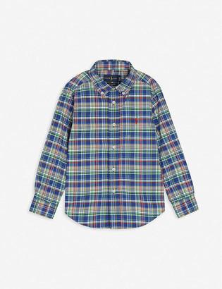 Ralph Lauren Checked logo-embroidered cotton shirt 2-4 years