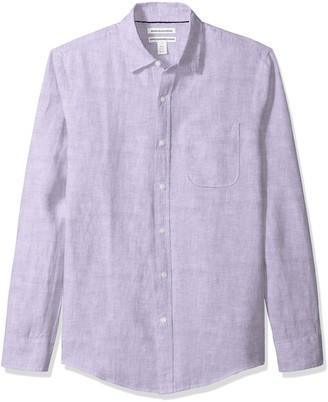 Amazon Essentials Slim-fit Long-sleeve Linen Shirt Button