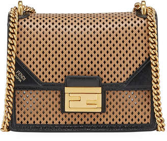 Fendi Kan U Small Perforated Leather Crossbody Bag