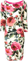 Blugirl roses print fitted dress