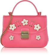 Furla Candy Lilla Rose Jelly Rubber Mini Bag
