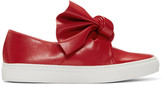 Cédric Charlier Red Bow Slip-On Sneakers