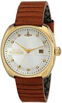 Vivienne Westwood Bermondsey Men's Quartz Watch with Silver Dial Analogue Display and Brown Leather Strap VV080SLTN