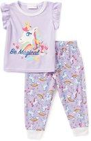 Sweet Heart Rose Little/Big Girls 2T-10 Be Magical Unicorn Top & Pants Pajama Set