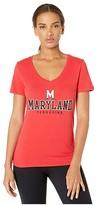 Champion College Maryland Terrapins University V-Neck Tee (Scarlet) Women's T Shirt