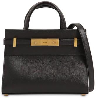 Saint Laurent Nano Manhattan Leather Top Handle Bag