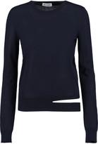 Jil Sander Cutout cashmere and silk-blend sweater