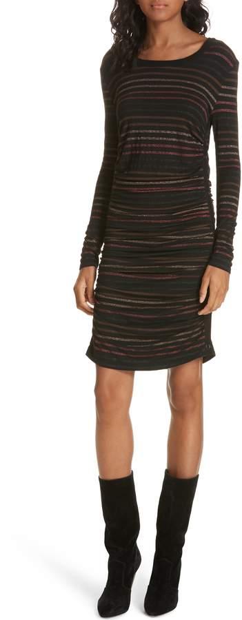 Veronica Beard Daphne Metallic Stripe Dress