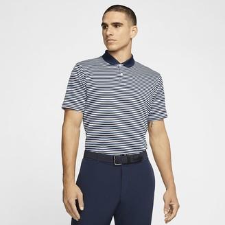 Nike Mens Striped Golf Polo Dri-FIT Victory