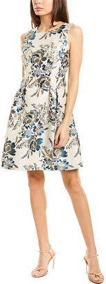 Vince Camuto Jacquard A-Line Dress