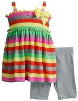 Youngland Toddler Girl Striped Tunic & Bike Shorts Set