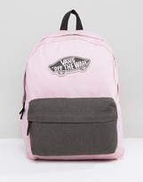 Vans Realm Backpack In Pink Lady