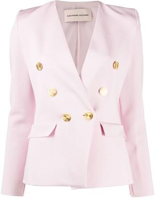 Alexandre Vauthier Cady Collarless Blazer Jacket