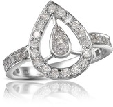 Forzieri 0.65 ct Diamond Drop 18k Gold Ring