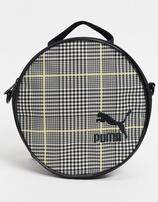 Puma Round Backpack in Grey Check