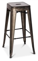 Apt2B Oxford Metal Counter Stool GUNMETAL - SET OF 4