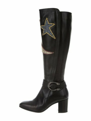 Gucci Dionysus Star & Moon Boots Black