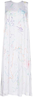 Collina Strada Ritual crayon scribble print maxi dress